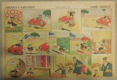 Donald Duck Sunday Page by Walt Disney from 3/24/1940 Half Page Size
