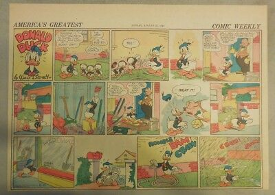 Donald Duck Sunday Page by Walt Disney from 8/25/1940 Half Page Size