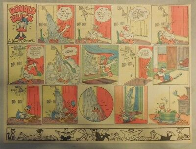 Donald Duck Sunday Page by Walt Disney from 6/30/1940 Half Page Size