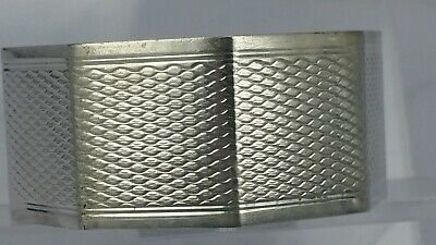 """1950 Solid silver napkin ring octagonal shape engraved """" Tony"""""""