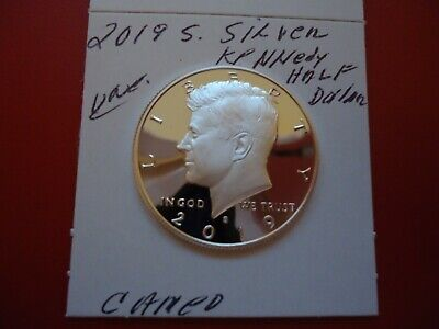 2019 S  Proof Silver Uncirculated  John F Kennedy  Half  Dollar Coin