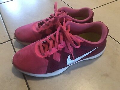 new style 922a4 ebf9f Nike Lunar Lux TR Training Shoes 749183-600 Pink Fuschia White Womens SIZE 8