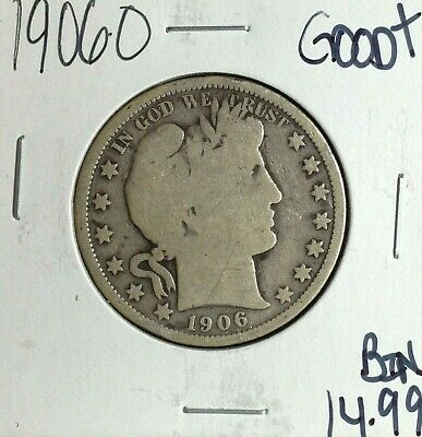 1906-O Barber Silver Half Dollar ~ Good+