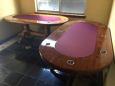 Hardwood Poker Table - Brand New Speed Felt