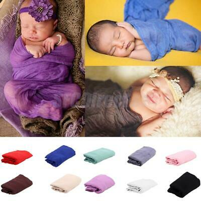 Newborn Baby Photography Photo Props Stretch Wraps Baby Swaddle Wrap Blanket