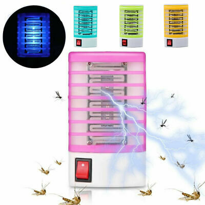 LED Socket Electric Mosquito Killer Lights Fly Bug Insect Trap Zapper Night Lamp