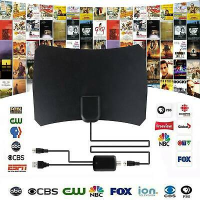 Indoors Digital HDTV TV Antenna+Aerial Amplified 75 Mile Range VHF UHF Freeview