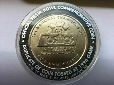 1996 Tostitos Fiesta Bowl Commemorative Coin Nebraska vsFlorida Free Shipping