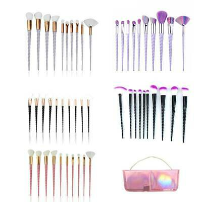 Unicorn 10 Pcs Makeup Brushes Set Foundation Powder Blend Cosmetic Make Up Tool