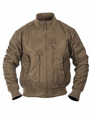 Mil-Tec US Tactical Flight Jacket Military Khaki Taille L