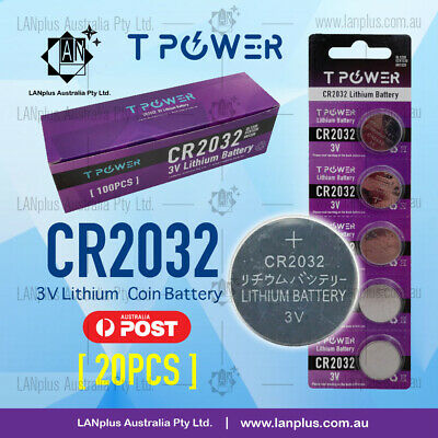 20 x CR2032 3V Lithium Coin Batteries STOCK IN Melbourne 4 Watch Alarm Camera