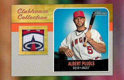 2019 Topps BUNT Albert Pujols GOLD RELIC CLUBHOUSE COLLECTION DROP 2 [DIGITAL]