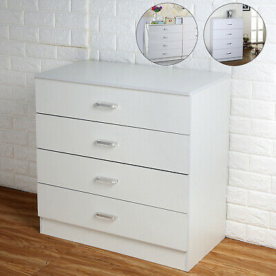 Riano Chest Of Drawers 4 Drawer Metal Handles Bedroom Furniture Bedside table
