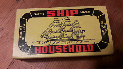 Streichholzschachtel Ship Household Safety Matches Box Masters Made In Sweden