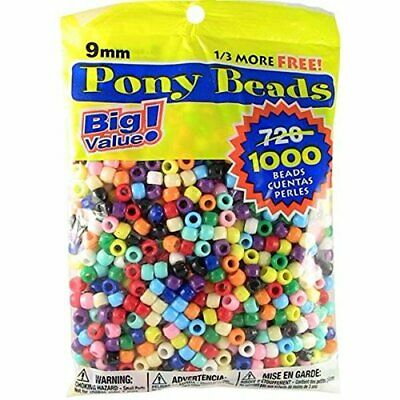 Pony Beads Multi Color One Thousand  Pieces in Bag Beads are a great craft item