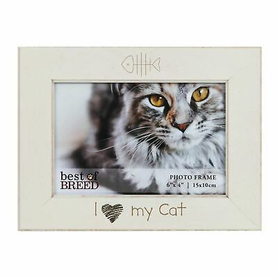 I Love My Cat Photo Frame MDF BB266 Picture Best of Breed 24 x 12 cm