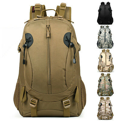 Outdoor Hiking Camping Bag Army Military Tactical Trekking Rucksack Backpack 40L