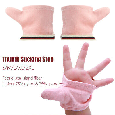 1 Pair Sea-island Fiber Thumb Sucking Stop Protect Finger Guard For Baby Kids AU