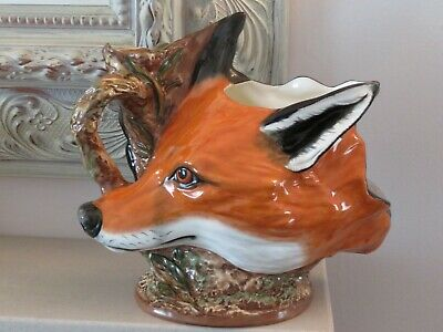 RARE ROYALE STRATFORD Large Double Sided Fox Head & Horse Pitcher