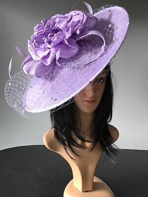 snoxell gwyther LAVENDER LILAC Hat disc HATINATOR ascot wedding MOTHER OF BRIDE