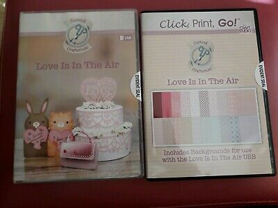 Cutting Craftorium 'Love Is In The Air' Svg Usb And Cd Rom Backing Papers