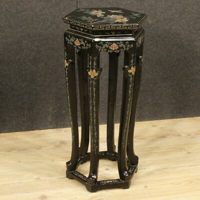 Column small table furniture french wooden lacquered chinoiserie antique style