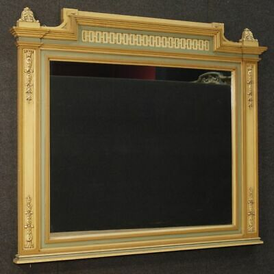 Mirror wooden frame painted antique style Louis XVI furniture living room 900