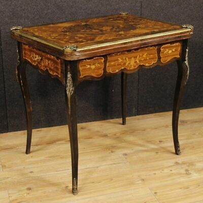 Table game inlaid small wood furniture living room secretary desk antique style