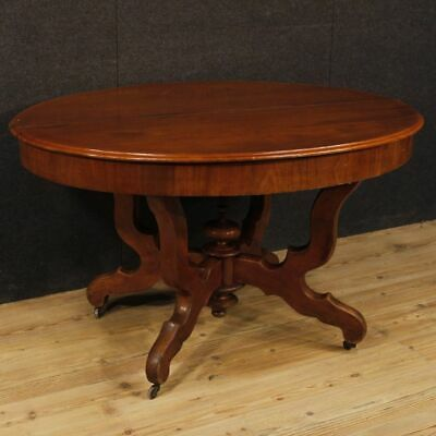 Extendable dining table wood living room furniture Dutch antique style mahogany