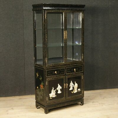 Showcase french bookcase cupboard furniture chinoiserie wood lacquered