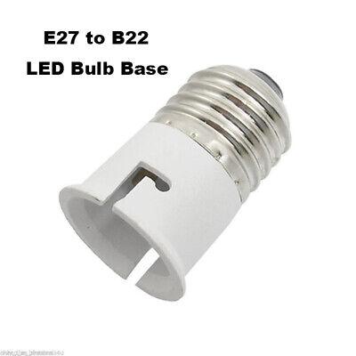E27 to B22 Lot Holder Edison Screw Bayonet Light Bulb Converter Adapter Fitting
