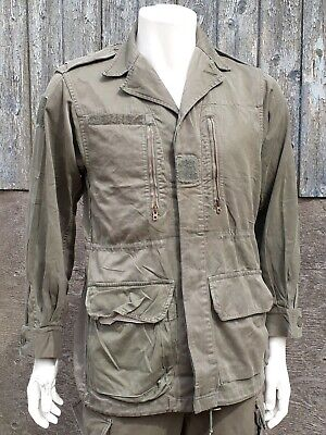 Genuine Surplus French Vintage Army Jacket Cotton Olive Sustainable Military