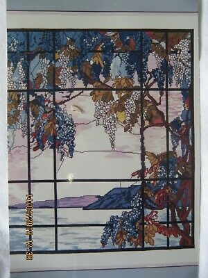 Tiffany Window Scene Counted Crossstitch Kit Aidinen Threads Chart Colour Photo