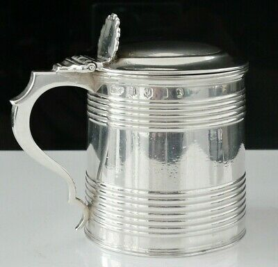 Scottish Antique Silver Mustard Pot, Edinburgh 1817, James Mckay