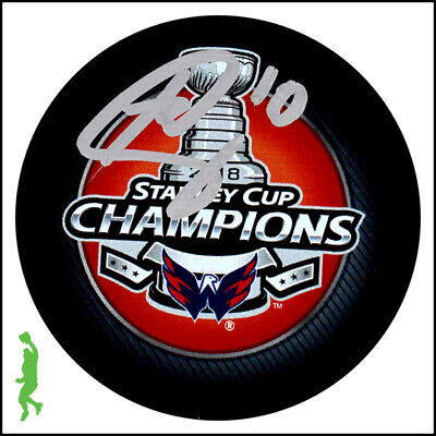 Brett Connolly Autographed Signed 2018 Stanley Cup Champs Puck Capitals Jsa Coa
