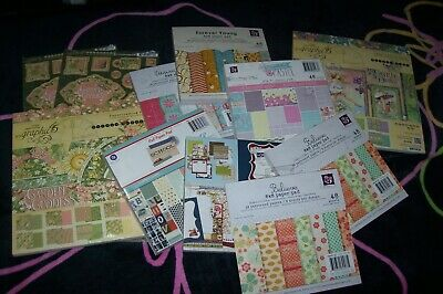 PRIMA & Graphic 45 Scrapbooking Collection Of Paper Pads New/Complete