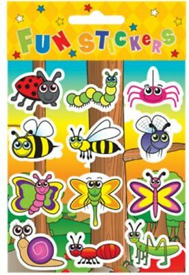 INSECT Stickers Childrens Birthday Party Loot Bag Fillers