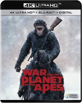 War For The Planet Of The Apes 4K Movie Ultra Hd UHD Bluray Blu-ray