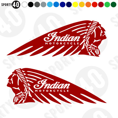 INDIAN MOTORCYCLE Vinyl Decal / Handed Sticker - Scout Chief FTR 1200  2104-0419