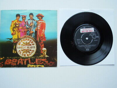 The Beatles Sgt. Pepper's Lonely Hearts Club Band 7 inch 45 P/S Factory Sample