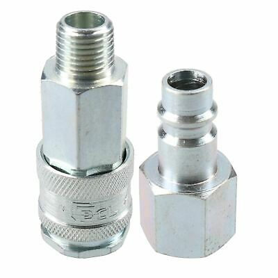 """PCL XF Series Female Coupler 1/4"""" BSP Male Thread & Male Fitting Air Adaptor"""