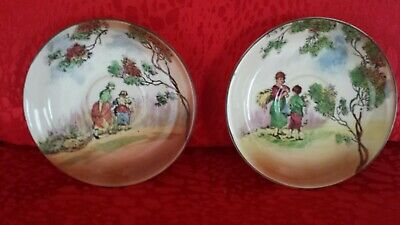 Royal Doulton Series Ware, English Old Scenes The Gleaners 2 x Saucers.