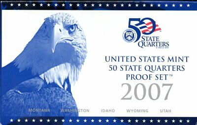 2007-S United States Mint 50 State Quarters Proof Set JB538