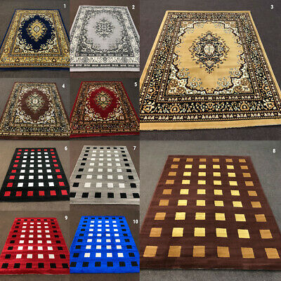 New Traditional Modern Alpha Clearance Rugs Modern Rug Runner Free UK Delivery*
