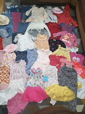 Huge Bundle Of Baby Girl Summer Clothes 18-24months #44 NEXT H&M GEORGE F&F JOHN
