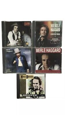 Merle Haggard CD LOT 5 CDs Country Pride Epic Hits (3 CDs Sealed)