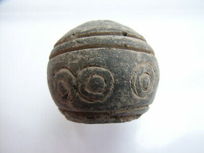 1 Ancient Celtic Clay Bead Celts VERY RARE!  TOP !!