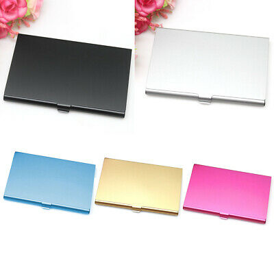 NEW Unisex Card Case For Business ID Credit Card Holders Wallet Metal Slim Box
