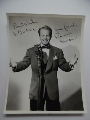 1941 RONNIE KEMPER Signed Inscribed Dated Photo Jazz Swing Bandleader Vintage
