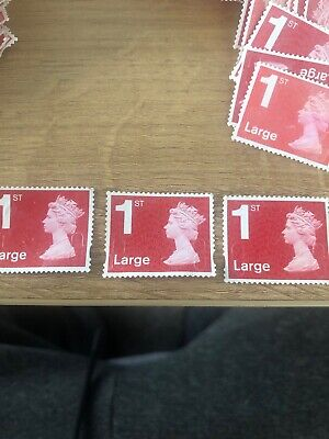 1st Class Large Letter Unfranked Stamps Off Paper No Gum X350